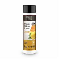 Organic Shop Zvláčňující pěna do koupele Citron a Med, 500 ml