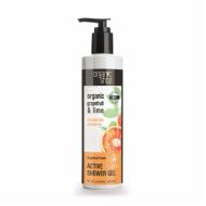 Organic Shop Active Sprchový Gel Grepový punč a Limetka, 280 ml