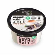 Organic Shop Sůl do koupele  Vanilka a mléko, 250 ml